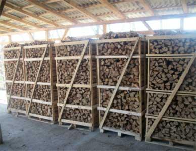 Купить дрова в ящиках
